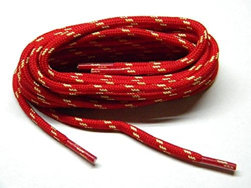 "ProTOUGH(tm) ""Red w/ Natural"" Kevlar Reinforced Heavy Duty Boot Laces - 2 Pair Pack"