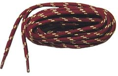 "ProTOUGH(tm) ""Burgundy Wine w/ Yellow"" Kevlar Reinforced Heavy Duty Boot Laces - 2 Pair Pack"