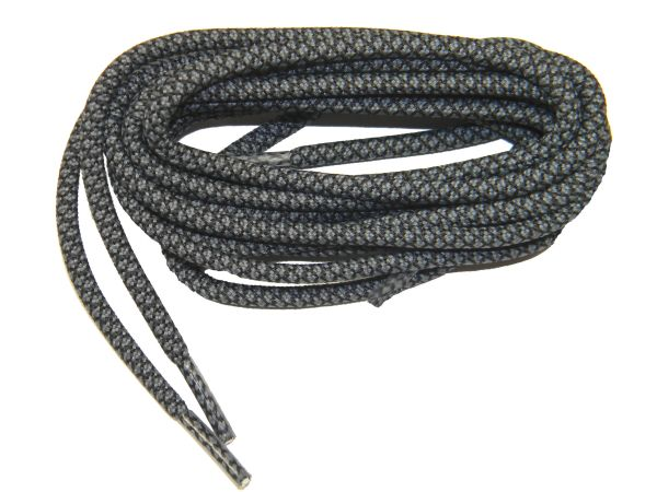 GymTOUGH(TM) DARK GREY Heavy Duty Round Athletic Sneaker Laces (2 Pair Pack)