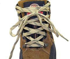 "ProTOUGH(tm) FLAT ""Tan w/ Black"" Kevlar Reinforced Heavy Duty Boot Laces - 2 Pair Pack"