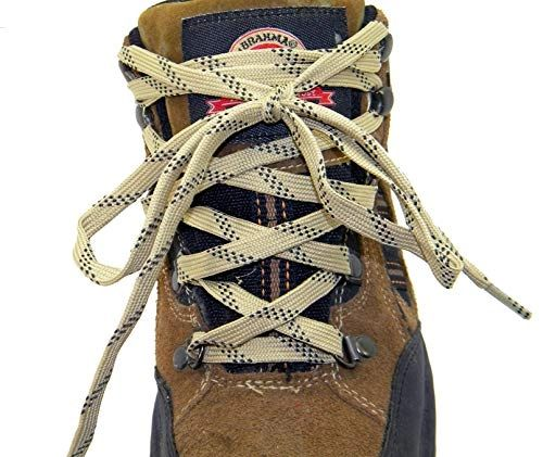 "ProTOUGH(tm) FLAT ""Tan w/ Black"" Kevlar Reinforced Heavy Duty Boot Laces - 2 Pair Pack"
