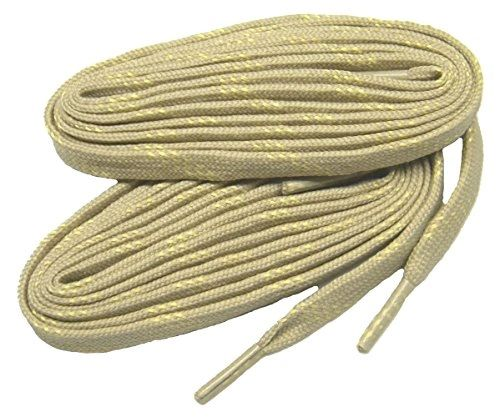 "ProTOUGH(tm) FLAT ""Tan w/ Yellow"" Kevlar Reinforced Heavy Duty Boot Laces - 2 Pair Pack"