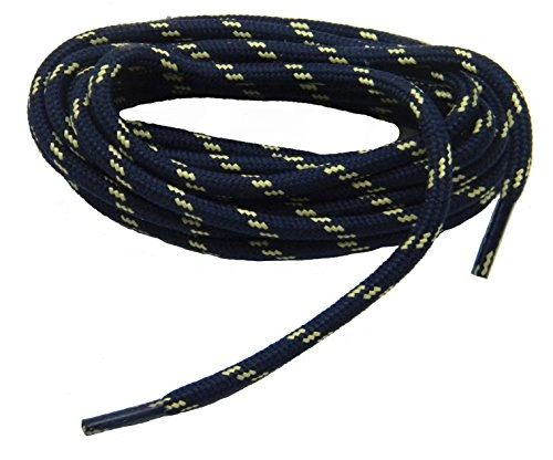 "ProTOUGH(tm) ""Navy Blue w/ Yellow-Natural"" Kevlar Reinforced Heavy Duty Boot Laces - 2 Pair Pack"