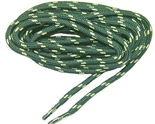 "ProTOUGH(tm) ""Hunter Green w/ Yellow"" Kevlar Reinforced Heavy Duty Boot Laces - 2 Pair Pack"