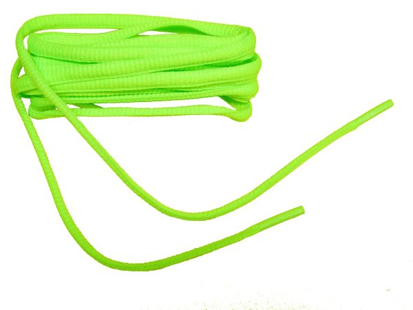 12 Pair Pack Brilliant Neon Green Oval style Athletic sneaker shoelaces (40 Inch 102 cm)