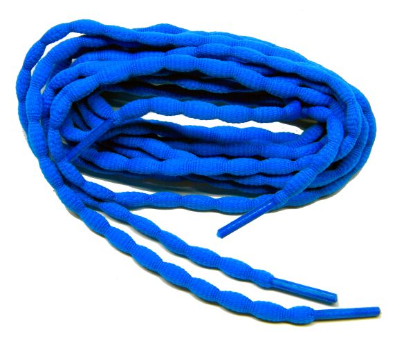 (2 Pair Pack) Royal Blue Bubble style stay tied Athletic running shoelaces