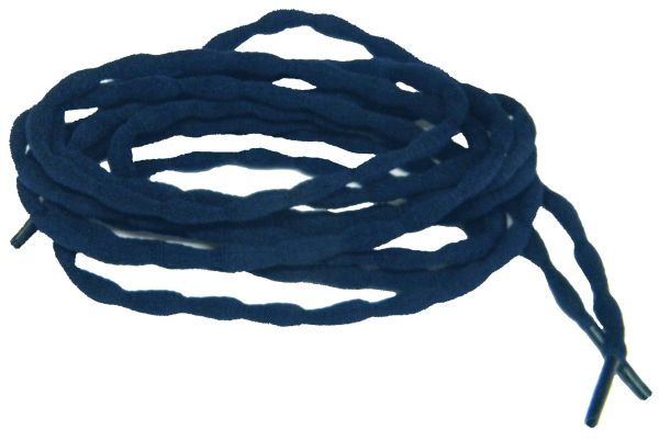 (2 Pair Pack) Navy Blue Bubble style stay tied Athletic running shoelaces
