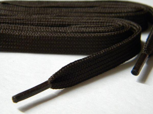 2 pair pack- Chocolate Brown, Flat 10 mm wide- Brogan Shoelaces