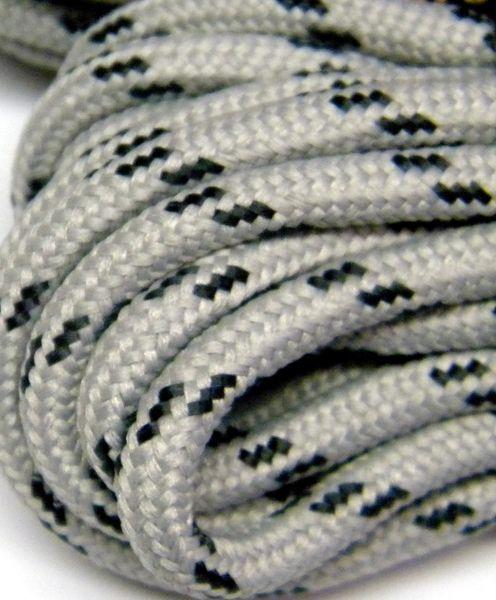 25' Feet Heavy duty Grey w/Black Kevlar (r) Reinforced Tie down Cord Utility String...