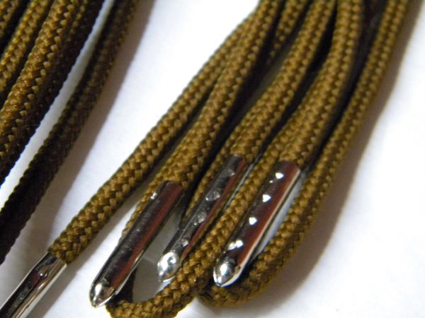 2 pair pack- Chestnut, Silver Steel Tips, Durable Polyester boot laces