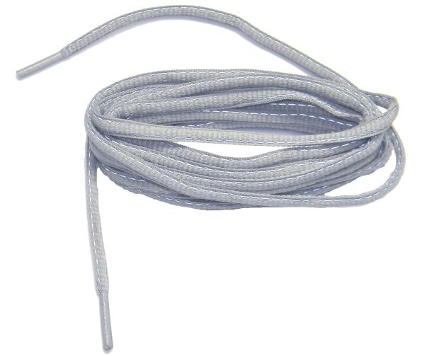 2 pair pack- Grey, Reflective, Oval style Athletic sneaker shoelaces