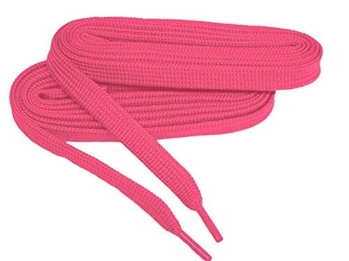 2 Pair Pack- Hot Pink, Hiker Boot Shoelaces 10mm Extra Durable extremeMAX(tm) Flat