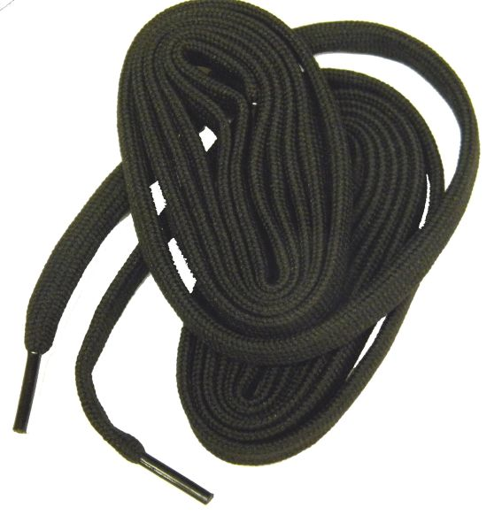 2 Pair Pack- Black, Hiker Boot Shoelaces 10mm Extra Durable extremeMAX(tm) Flat