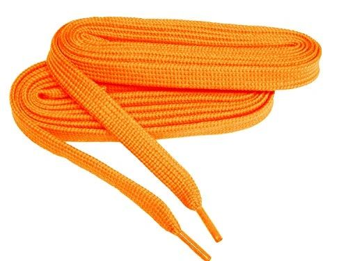 2 Pair Pack- Orange, Hiker Boot Shoelaces 10mm Extra Durable extremeMAX(tm) Flat