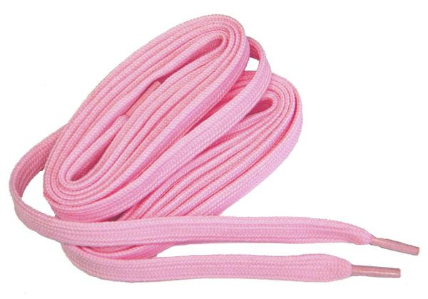 2 Pair Pack- Baby Pink, Hiker Boot Shoelaces 10mm Extra Durable extremeMAX(tm) Flat