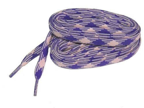 2 Pair Pack- Pink Purple Argyle, Hiker Boot Shoelaces 10mm Extra Durable extremeMAX(tm) Flat