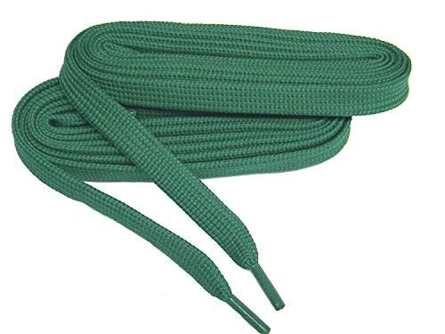 2 Pair Pack- Kelly Green, Hiker Boot Shoelaces 10mm Extra Durable extremeMAX(tm) Flat