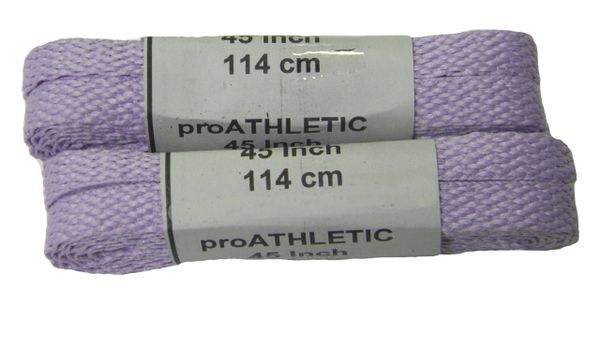"ProAthletic(tm) FLAT ""Lavender"" Sneaker Shoelaces (2 Pair Pack, 27-84 IN/69-213 CM, 8mm in Width)"