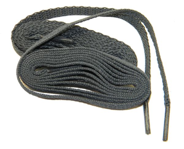 "ProAthletic(tm) FLAT ""Dark Charcoal Grey"" Sneaker Shoelaces (2 Pair Pack, 8mm in Width)"