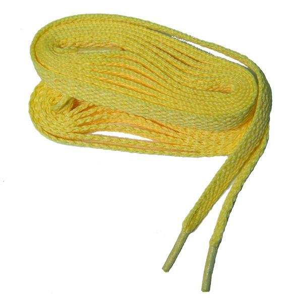 "ProAthletic(tm) FLAT ""Light Yellow"" Sneaker Shoelaces (2 Pair Pack, 8mm in Width)"