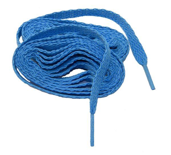 """ProAthletic(tm) FLAT """"Carolina Blue"""" Sneaker Shoelaces (2 Pair Pack, 8mm in Width)"""