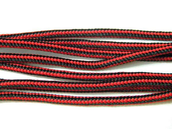 RED-BLACK 550 Paracord Steel Tip Shoelaces Boot Laces Strongest Laces available