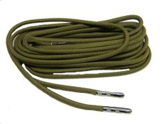 OLIVE DRAB GREEN 550 Paracord Steel Tip Shoelaces Boot Laces