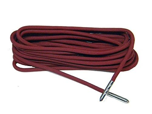 CRIMSON Wine 550 Paracord Steel Tip Shoelaces Boot Laces - 2 Pair Pack
