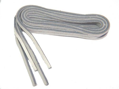 1/8 Inch square cut WHITE LEATHER Replacement Boat Shoe Leather Shoelaces - 2 Pair Pack