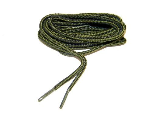 "ProBOOT(tm) ""Olive Drab Green w/ Black"" Rugged Wear Long-Lasting Polyester Hiking Boot Laces - 2 Pair pack"