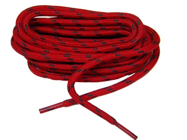 "ProTOUGH(tm) ""Red w/ Black"" Kevlar Reinforced Heavy Duty Boot Laces - 2 Pair Pack"