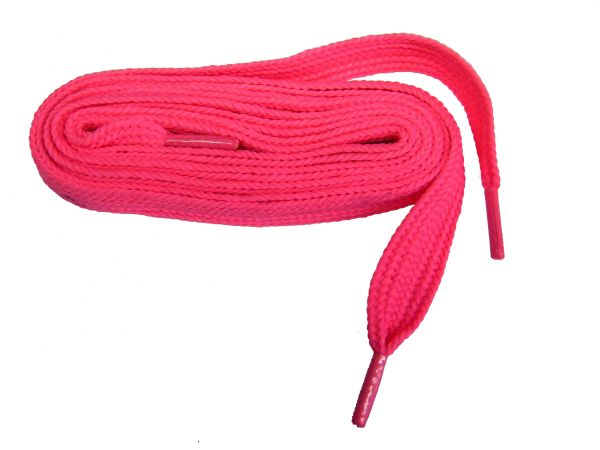 "proATHLETIC(tm) Neon Pink ""FAT"" (20 mm Wide) Fashionable Athletic Sneaker Shoelaces (2 Pair Pack)"