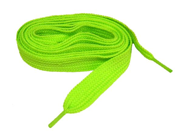 "Proathletic(tm) ""Neon Green"" FAT(20 mm Wide) Fashionable Athletic Sneaker Shoelaces (2 Pair Pack, Lengths 27-84 IN / 69-213 CM)"