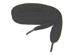 "Proathletic(tm) COAL BLACK ""FAT"" (20mm Wide) Fashionable Athletic Sneaker Shoelaces (2 Pair Pack)"
