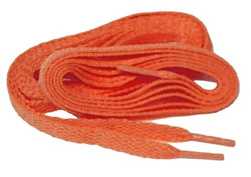 "Proathletic(tm) ""Neon Orange"" FAT(20 mm Wide) Fashionable Athletic Sneaker Shoelaces (2 Pair Pack, Lengths 27-84 IN / 69-213 CM)"