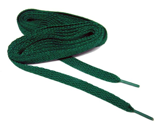 "ProAthletic(tm) FLAT ""Kelly Green"" Sneaker Shoelaces (2 Pair Pack, 27-84 IN/69-213 CM, 8mm in Width)"