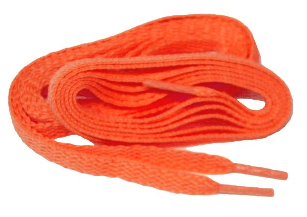 "ProAthletic(tm) FLAT ""Neon Orange"" Sneaker Shoelaces (2 Pair Pack, 27-84 IN/69-213 CM, 8mm in Width)"