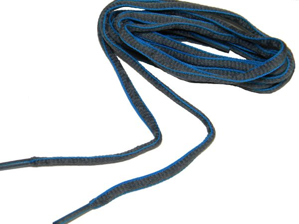 "ProAthletic(tm) OVAL ""Grey w/ Blue"" Sneaker Shoelaces (2 Pair Pack, 27-84 IN/69-213 CM)"