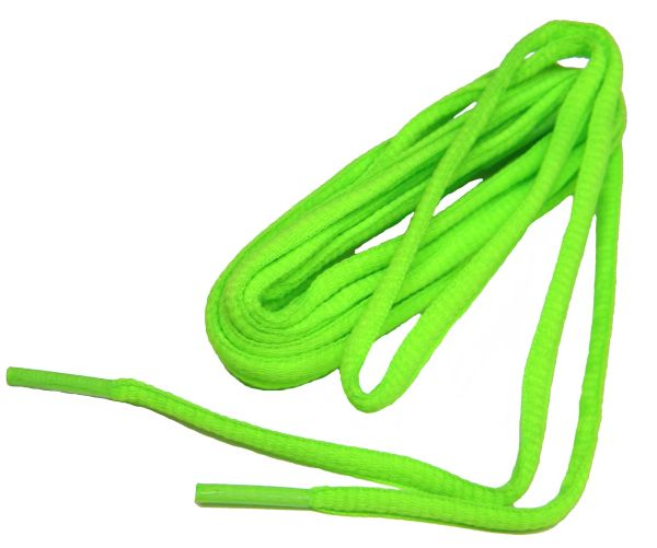 OVAL Neon Green ProAthletic(tm) Trainer Sneaker Shoelaces (2 Pair Pack)