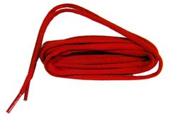 OVAL Fire Engine Red ProAthletic(tm) Sneaker Shoelaces - 2 Pair Pack
