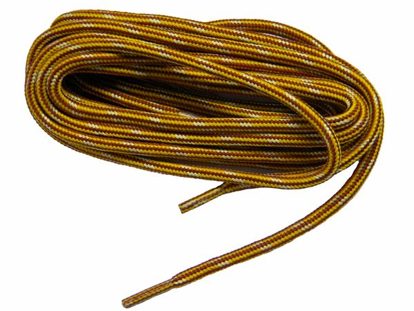 "ProTOUGH(tm) ""Gold w/ Yellow-Brown"" Kevlar Reinforced Heavy Duty Boot Laces - 2 Pair Pack"