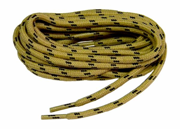 "ProTOUGH(tm) ""Tan w/ Black"" Kevlar Reinforced Heavy Duty Boot Laces - 2 Pair Pack"