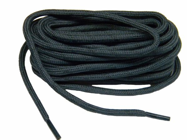 "ProTOUGH(tm) ""Dark Storm Grey w/ Black"" Kevlar Reinforced Heavy Duty Boot Laces (2 Pair Pack)"
