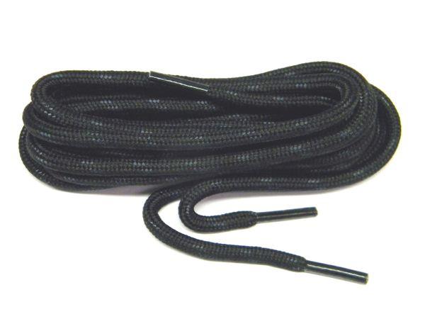 """ProTOUGH(tm) """"Black w/ Black"""" Kevlar Reinforced Heavy Duty Boot Laces - 2 Pair Pack"""