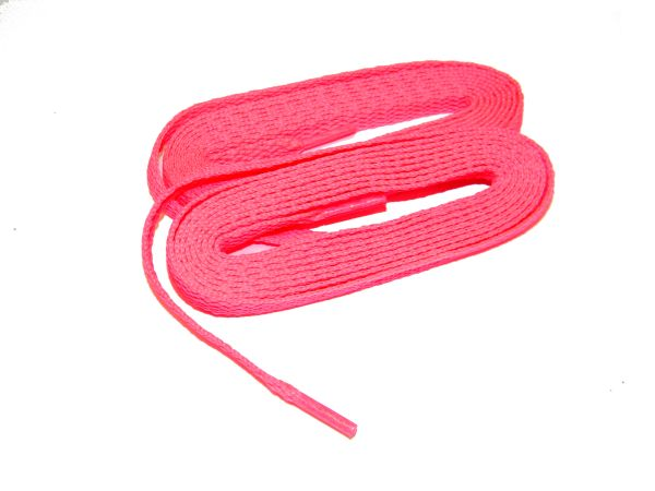 Hot Neon Pink TeamLaces(Tm) Bulk 24 Pair Pack - 8mm Flat Athletic Shoelaces