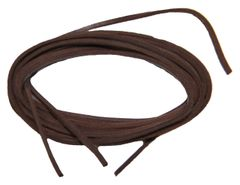 BROWN leather replacement Boat Shoe Leather Shoelaces - 2 Pair Pack rawhide 1/8 inch square cut