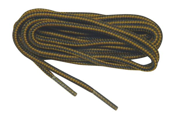 """ProBOOT(tm) """"Brown w/ Black"""" Rugged Wear Long-Lasting Polyester Hiking Boot Laces - 2 Pair Pack"""