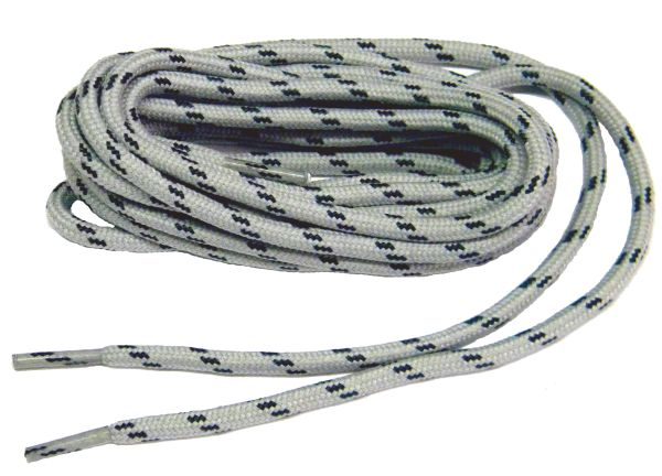 "ProTOUGH(tm) ""Smoke Grey w/ Black"" Kevlar Reinforced Heavy Duty Boot Laces - 2 Pair Pack)"