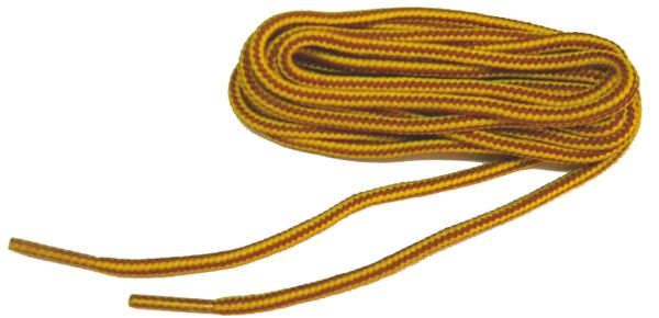 "ProBOOT(tm) ""Gold w/ Tan"" Rugged Wear Long-Lasting Polyester Hiking Boot Laces - 2 Pair Pack"