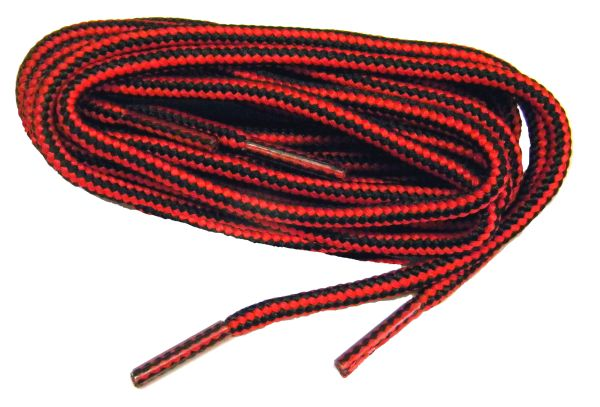 "ProBOOT(tm) ""Red w/ Black"" Rugged Wear Long-Lasting Polyester Hiking Boot Laces - 2 Pair Pack"